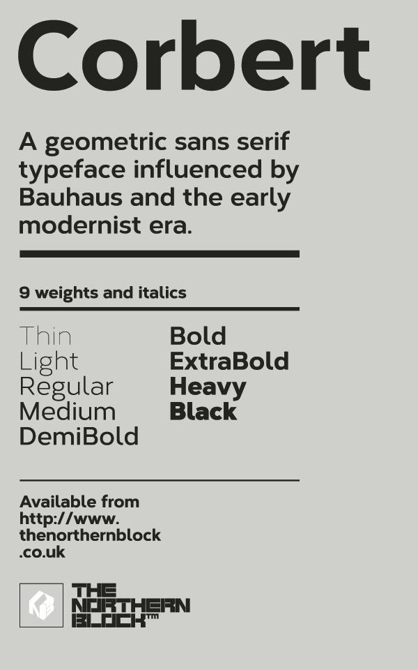 TUESDAY FONTS: Palitoon, Corbert and Intro