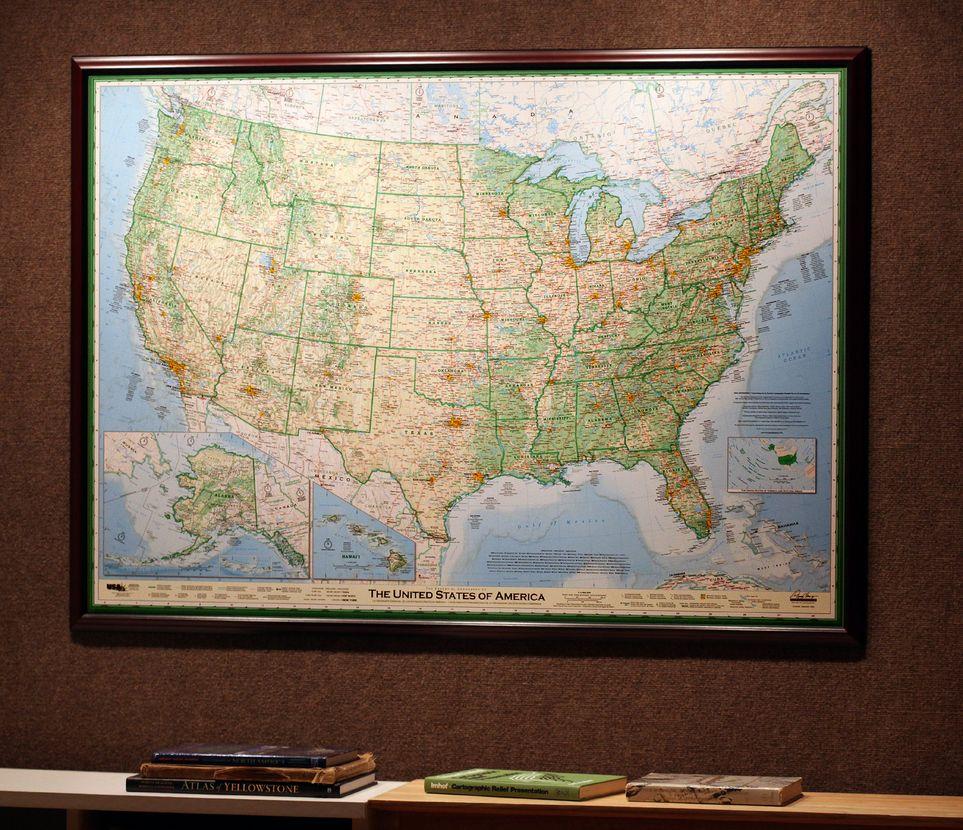 Dave Imus Amazing USA Map X Laminated Three - Us map maker