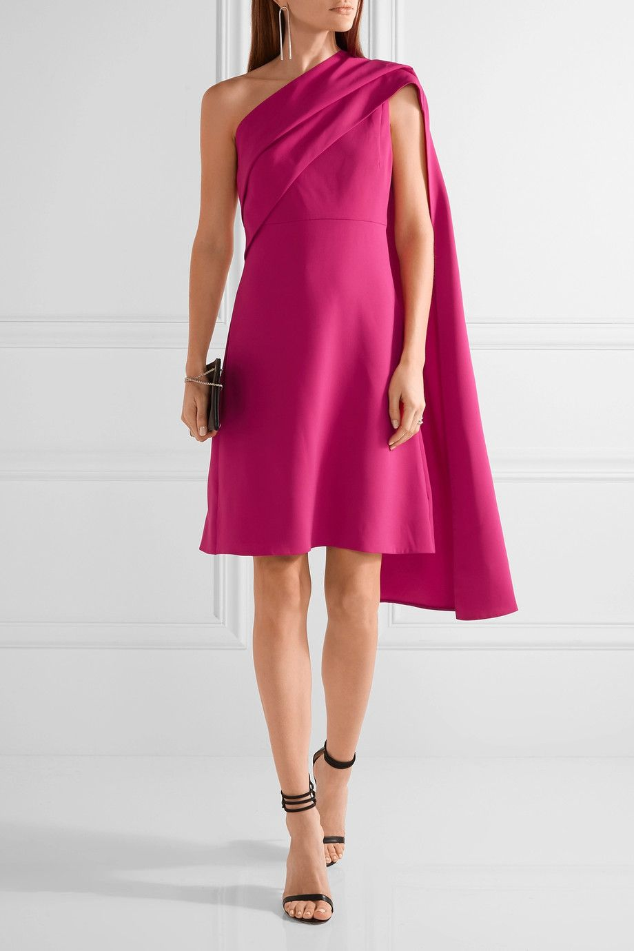 Narciso Rodriguez | Draped one-shoulder stretch-silk crepe dress ...