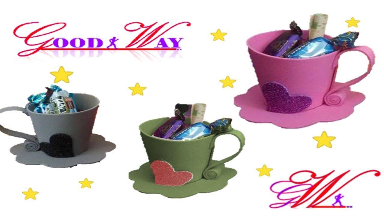 ط توزيعات العيد للأطفال كوب حلويات Diy And Crafts Crafts Hand Art