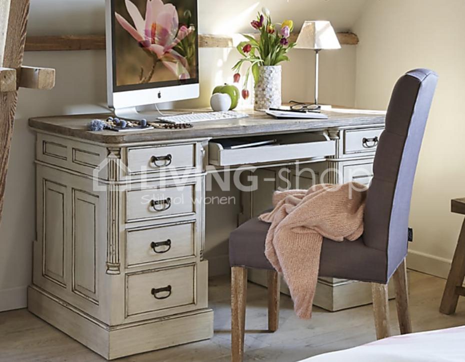 Bureau creme in landelijke stijl bij living for Webshop meubels
