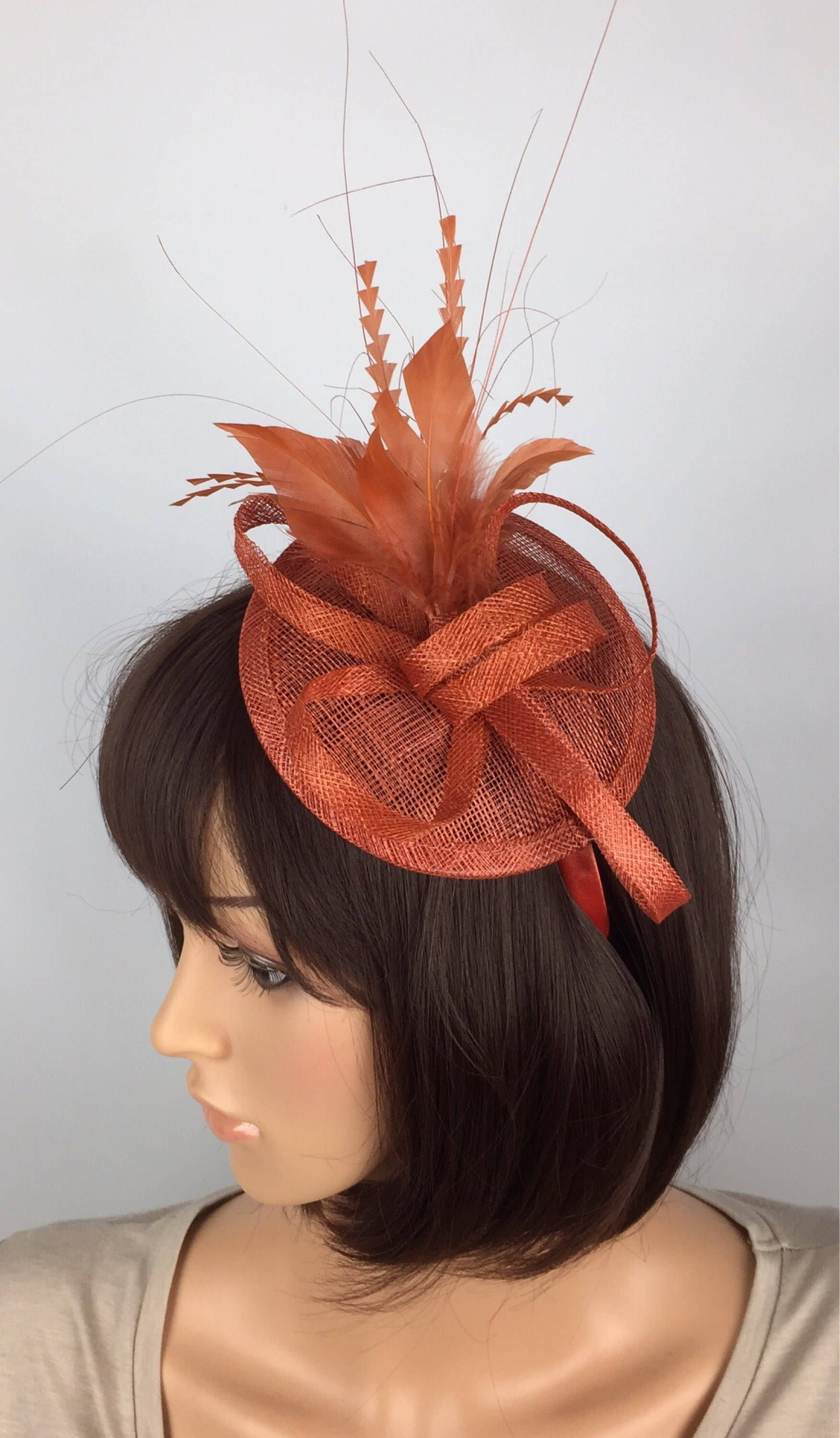 91c9576646089 Excited to share the latest addition to my  etsy shop  Rusty Burnt Orange  Sinamay