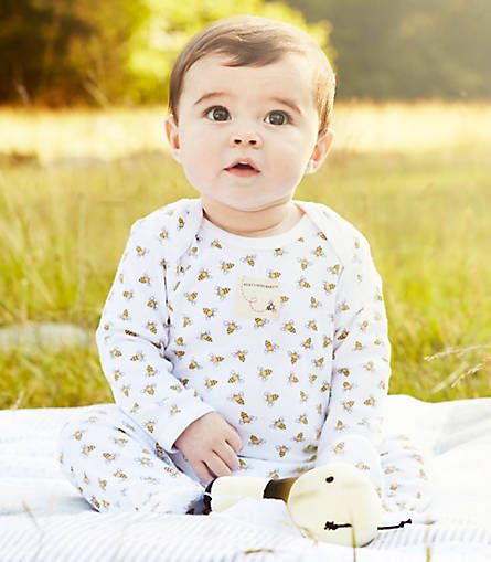 White /& Yellow ~ Burt/'s Bees Baby Boy Footed Coverall /& Knot Top Hat Set ~ Gray