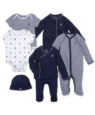 Ralph Lauren Baby Boys Nestled In Navy Gift Bundle Baby Boy
