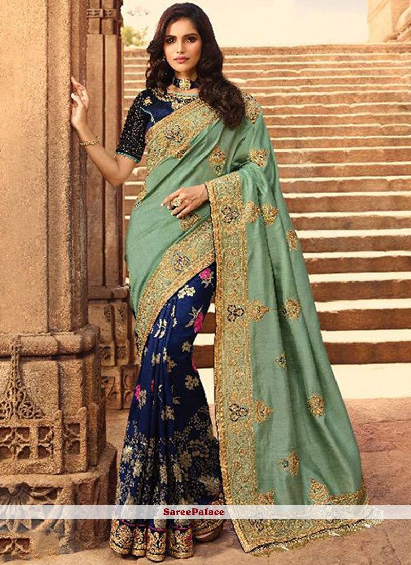 Beautiful Blue Khesh Cotton Saree With Unstitched Running Blouse For Bridesmaid Wedding Wear,Festive Wear party Wear Sari