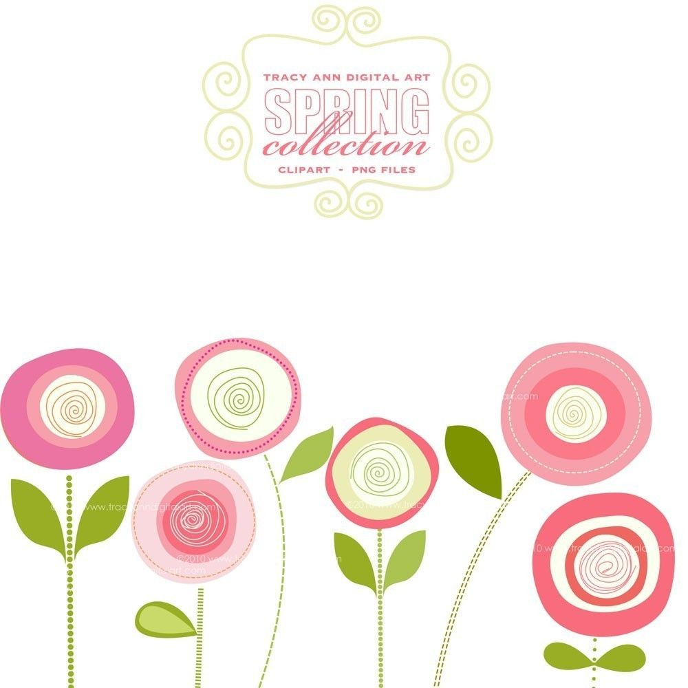 Clip art pink blooms commercial and by tracyanndigitalart diy clip art pink blooms commercial and personal use 3 mightylinksfo Image collections
