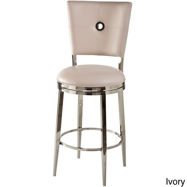 Strange Montbrook Faux Leather Keyhole Back Swivel Stool Overstock Andrewgaddart Wooden Chair Designs For Living Room Andrewgaddartcom