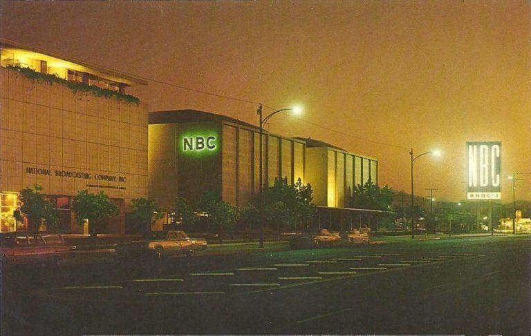 Nation Broadcasting Company Studios Burbank Ca 1968 Burbank California California Postcard Burbank