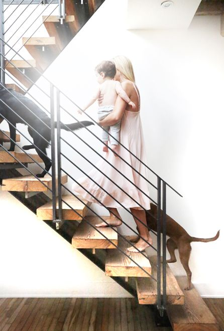 Meredith Melling | THE GLOW The Coolest Stairs And Railing