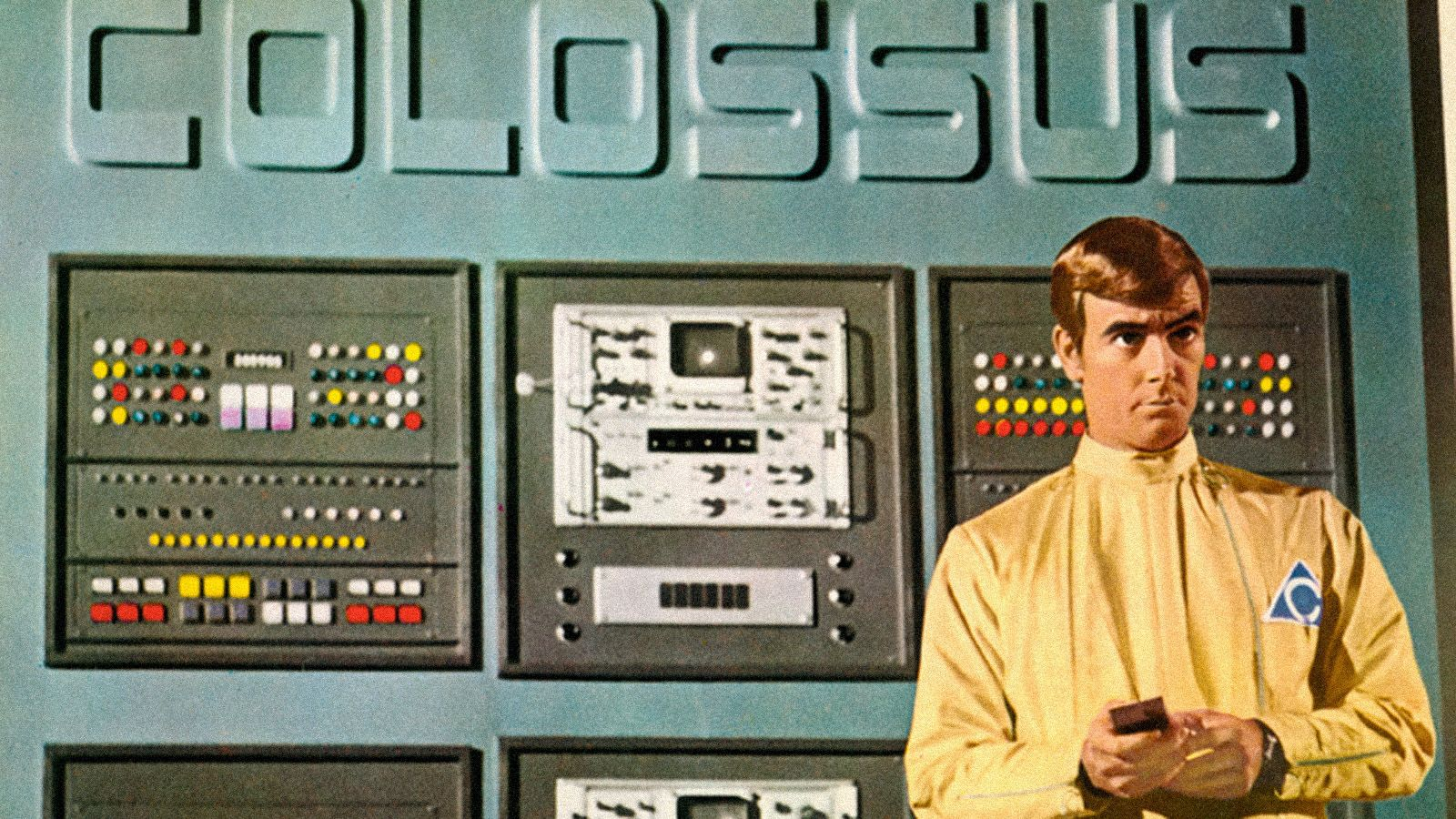 Image, from the 1970 television movie, COLOSSUS: THE FORBIN PROJECT (possibly from a colorized lobby card).