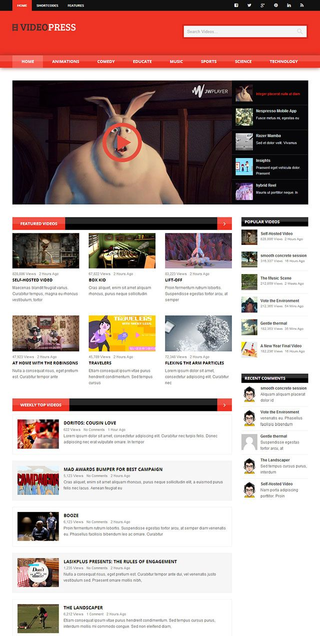 20+ Best Video WordPress Themes 2016 Useful Blogging