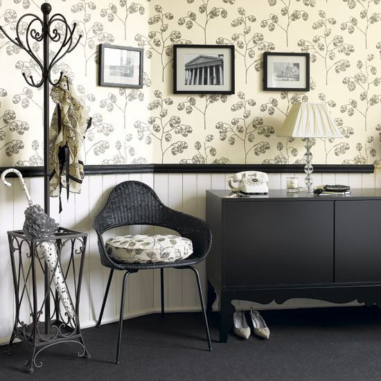 Half Wall Wallpaper Decor In 2019 Unique Wall Decor