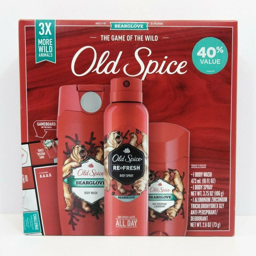 Details about old spice bearglove gift set antiperspirant