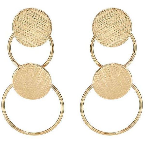 Kenneth Jay Lane Womens Circle & Disc Double-Drop Earrings 79cJtW0oAm