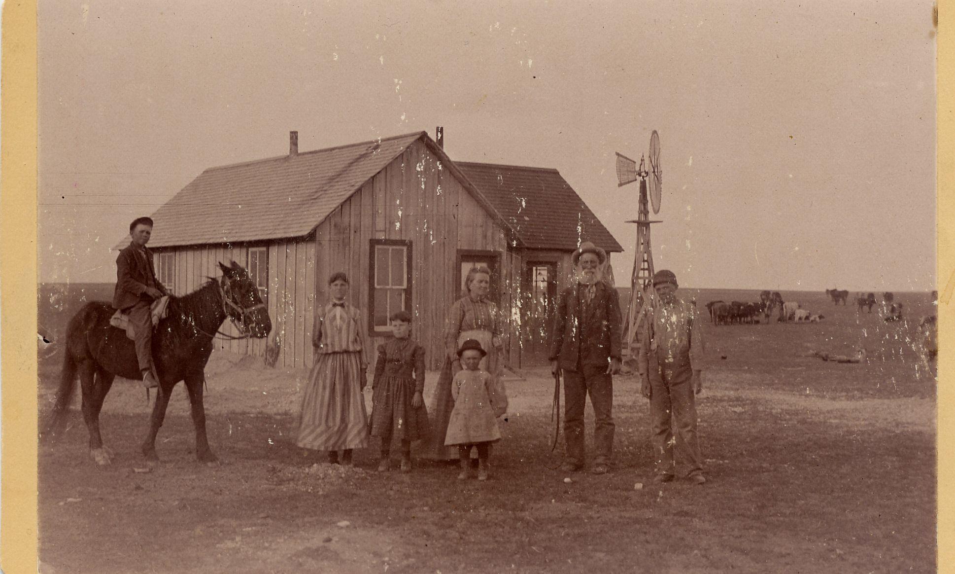 Kansas farm near Oberlin, 1889 Old west, Old photos, Kansas