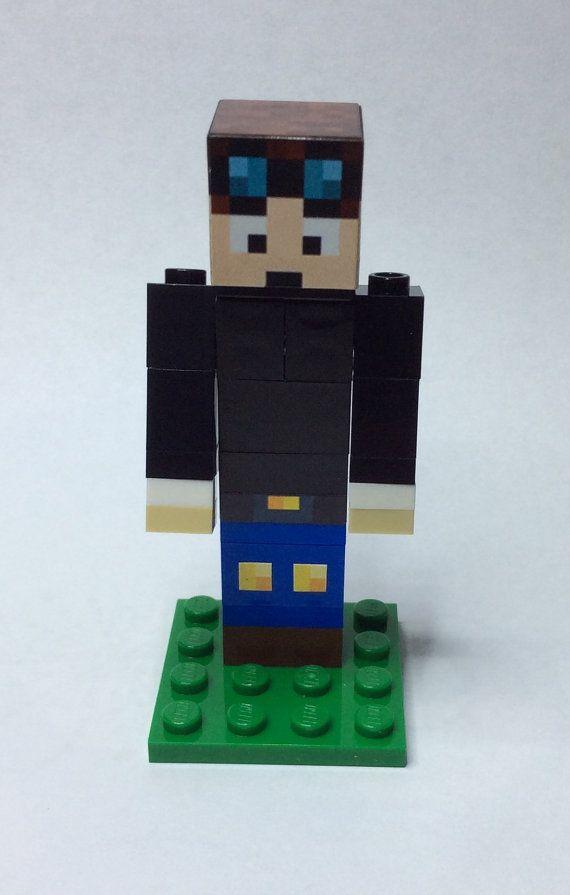 Minecraft Custom - DanTDM - A minecraft inspired figure in lego