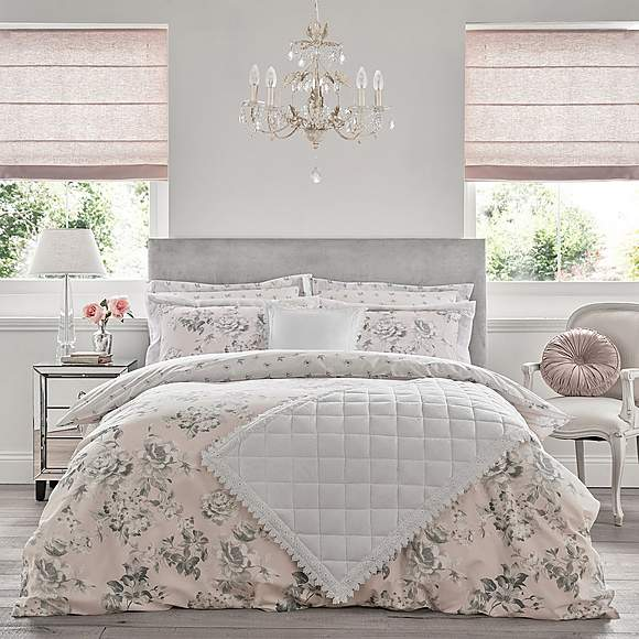 Holly Willoughby Tamsin Pink 100 Cotton Reversible Duvet Cover