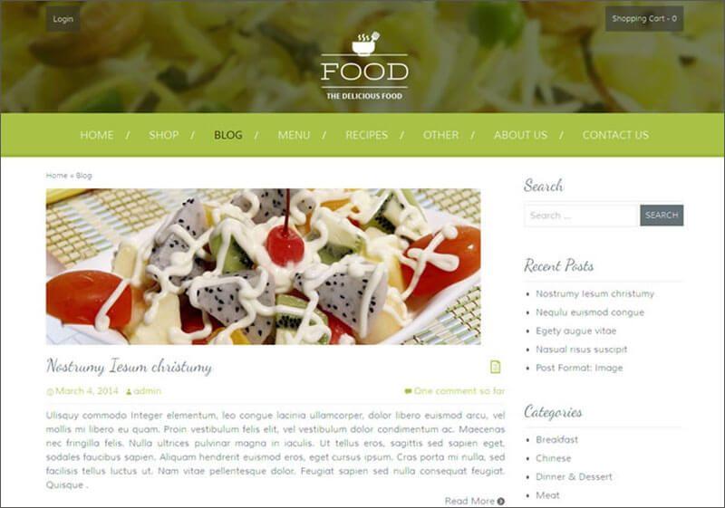 18 Template Theme Blog Resep Masakan Dan Kuliner Resep Masakan Blog Makanan Makanan