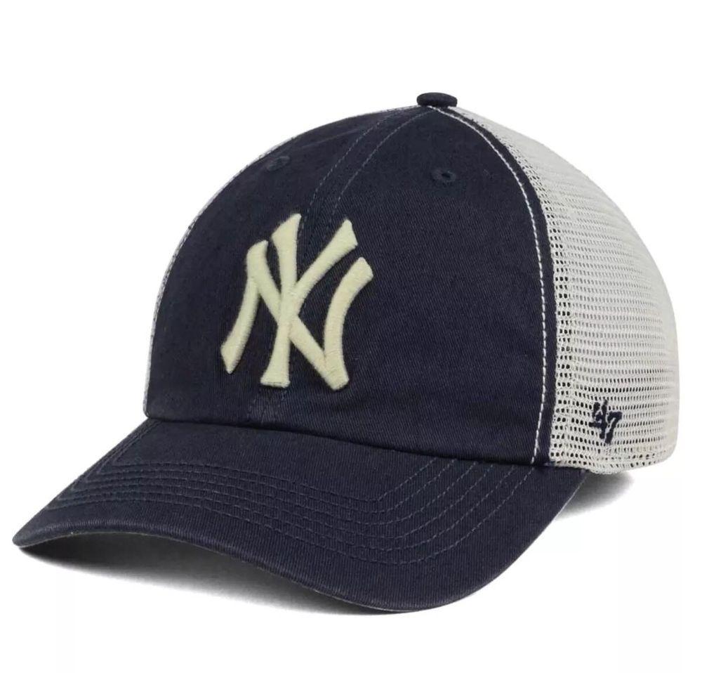New York Yankees  47 Brand Griffin Closer Relaxed FlexFit OSFM Mesh Cap Hat   47  NewYorkYankees 385f7c2f4447