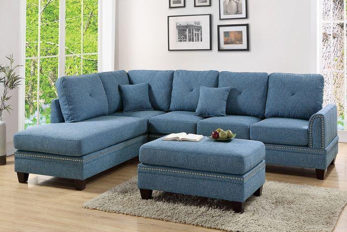 Poundex 2 Pcs Sectional Sofa F6512 Interiors