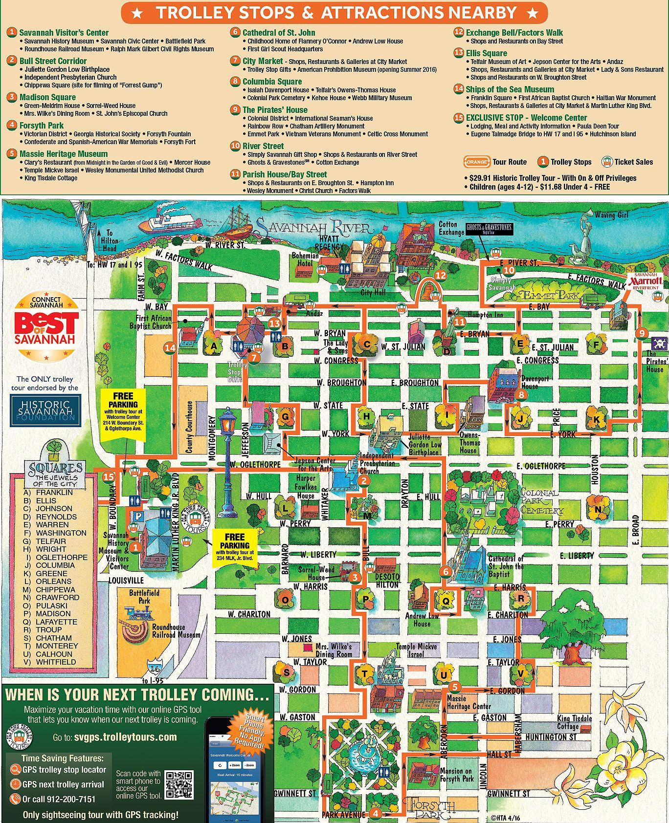 Savannah Old Town Trolley route map | Savannah Georgia ... on savannah hurricane map, savannah georgia travel guide, printable savannah downtown map, savannah loft bed, savannah water map, savannah ga, savannah travel map, savannah bus map, savannah shopping map, savannah retail map, savannah visitors map, savannah history map, savannah trolley tours, savannah hotel map, savannah landmark historic district, savannah tourism, savannah park map, colonial savannah map, savannah riverwalk restaurants, savannah georgia map,
