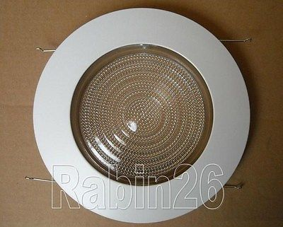 6 inch recessed can light shower trim glass clear lens fits halo 6 inch recessed can light shower trim glass clear lens fits halo juno white mozeypictures Image collections