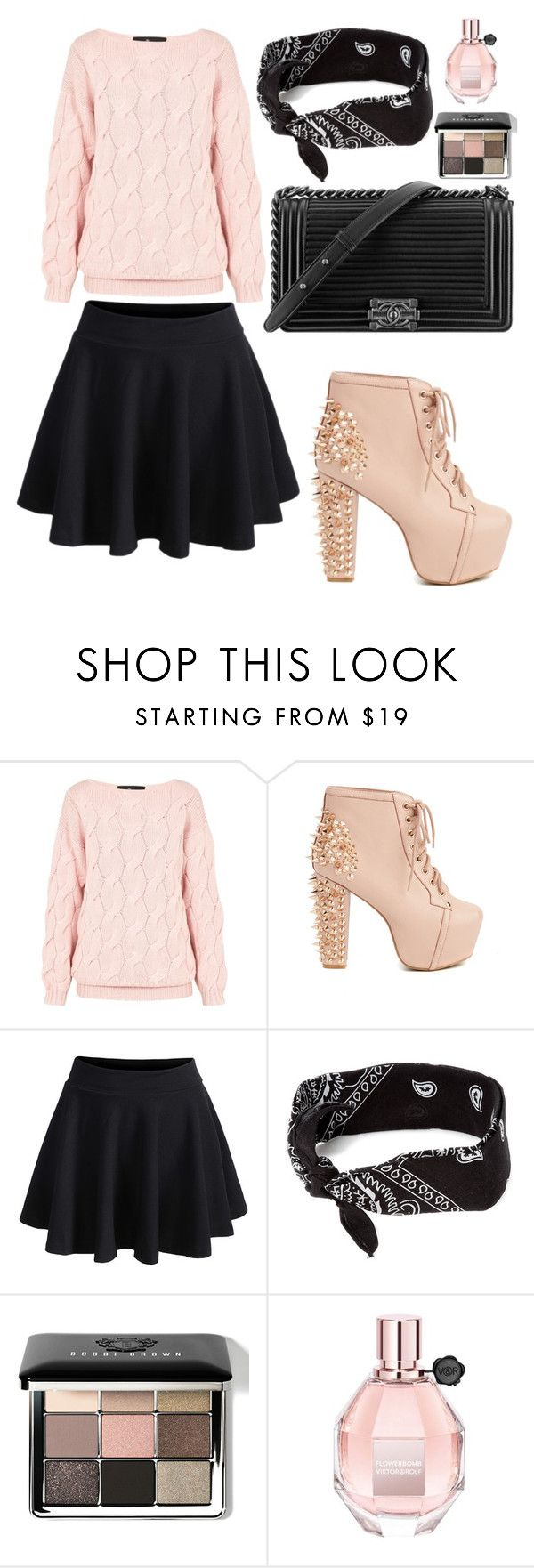 """Untitled #826"" by mala-palcica ❤ liked on Polyvore featuring AV by Adriana Voloshchuk, Jeffrey Campbell, Chanel, claire's, Bobbi Brown Cosmetics and Viktor & Rolf"
