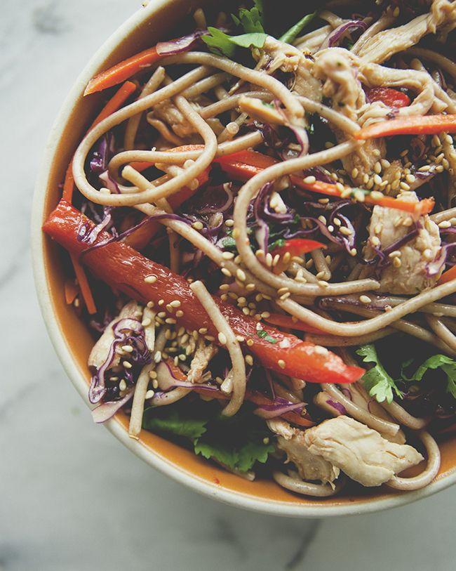 Garlicky Soba Noodle Salad recipe