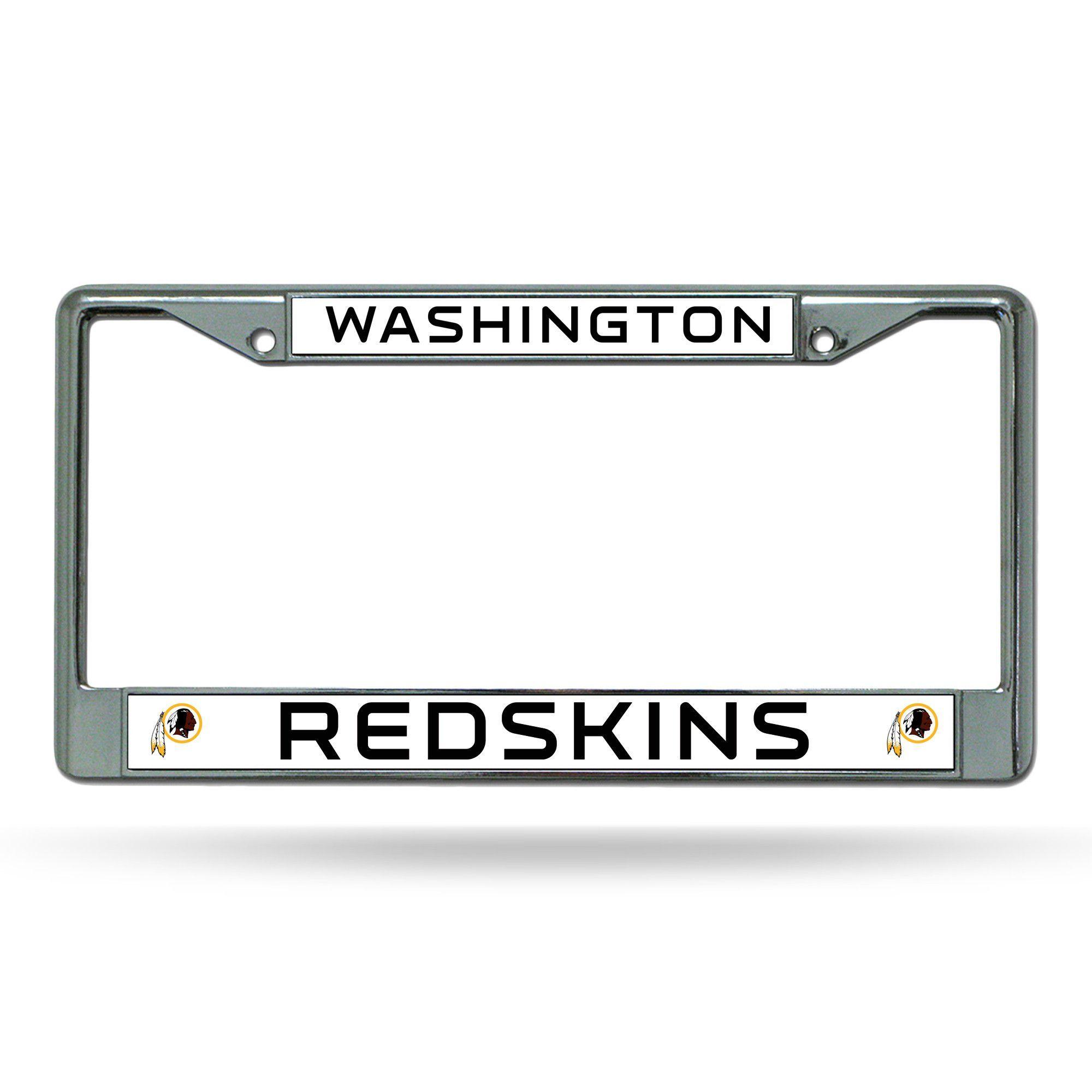 NFL Washington Redskins White Chrome License Plate Frame