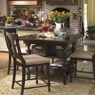 Paula Deen Home Counter Height Kitchen Gathering Table with Storage Baskets by Paula Deen by Universal - Hudsonu0027s Furniture - Pub Table T&a St Petersburg ... & Paula Dean set @ Martins Furniture | Ideas for kitchen make over ...