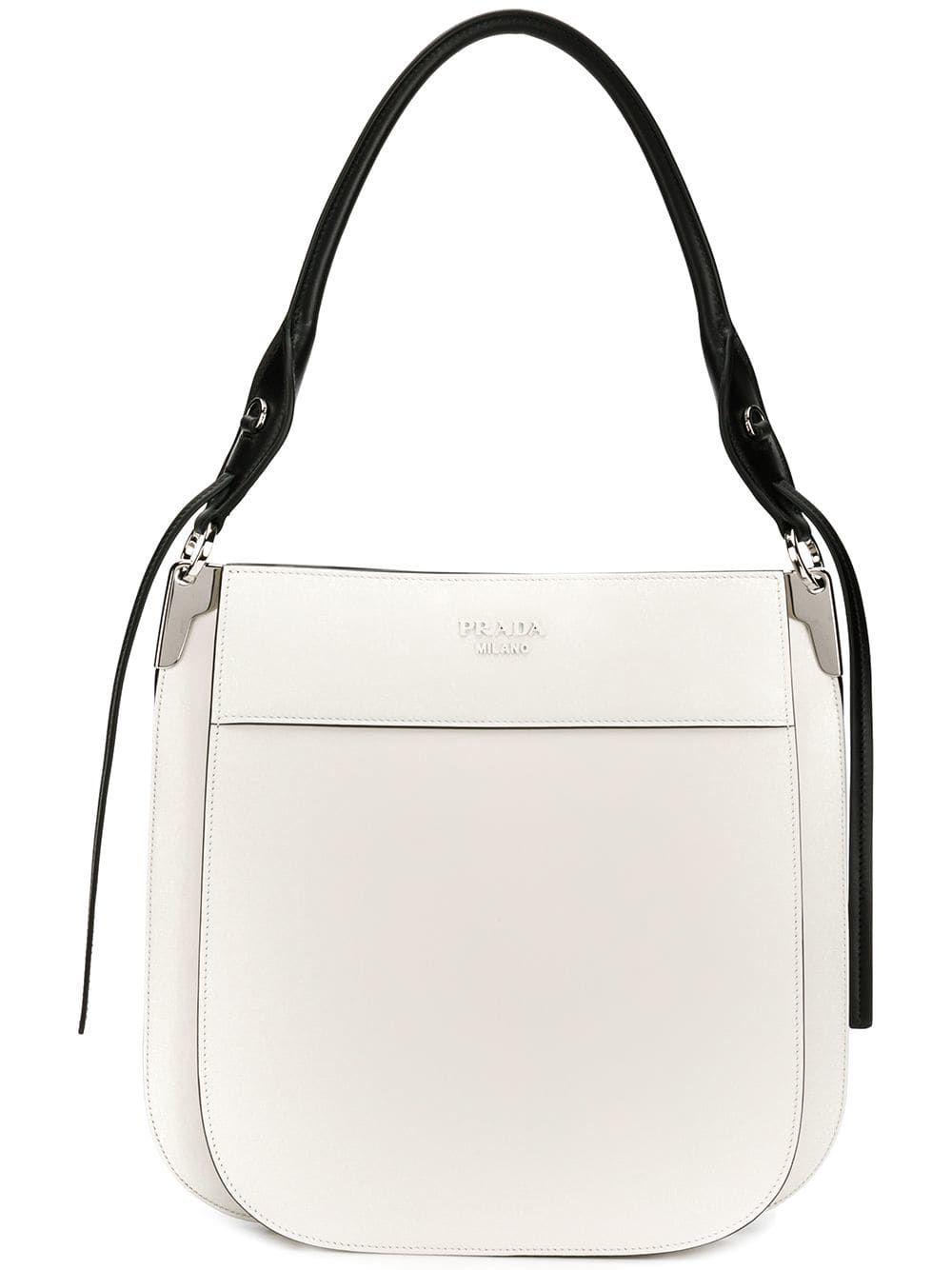 6f5380617cbc Prada hobo shoulder bag - White | Fashion & Style | Bags, Prada ...