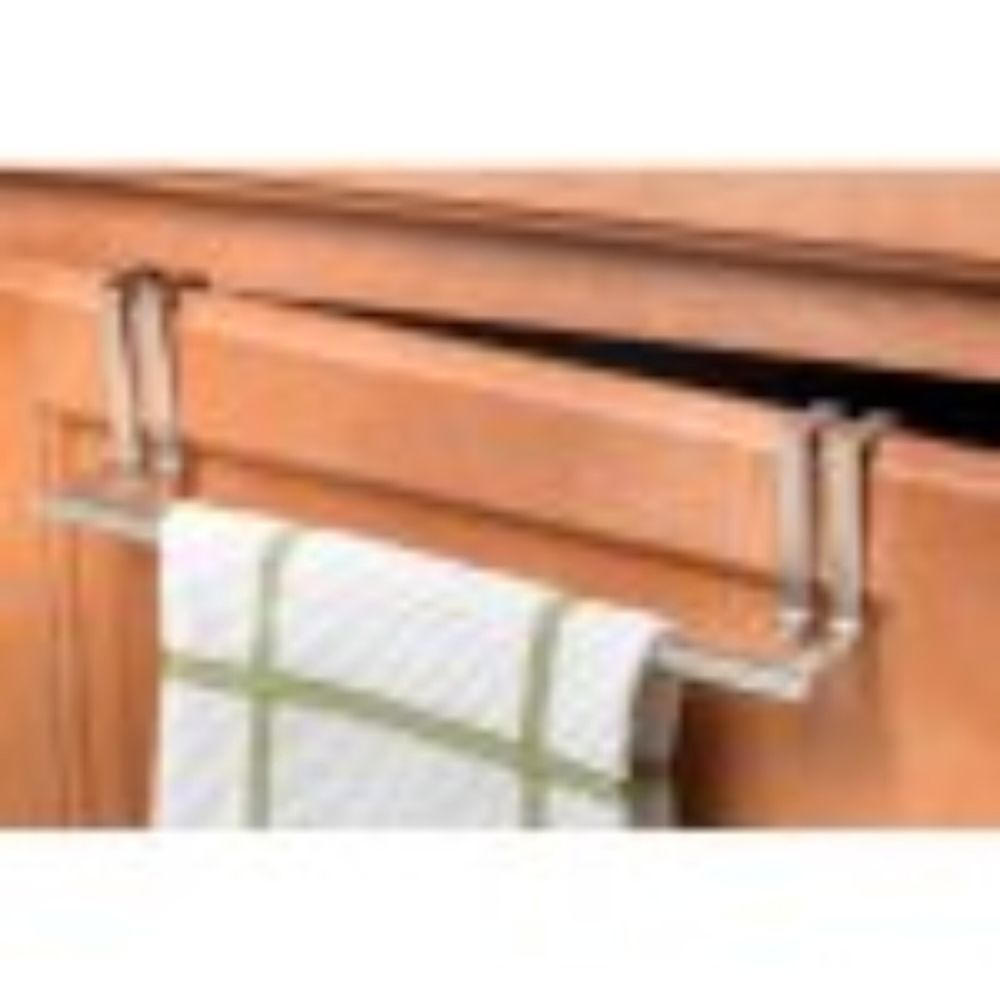 Towel Holder Kitchen Cupboard Over Door Bathroom Cabinet Nickel