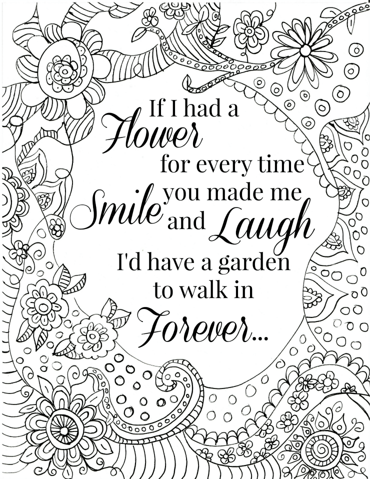 Quote Coloring Pages for Adults and Teens Free printable