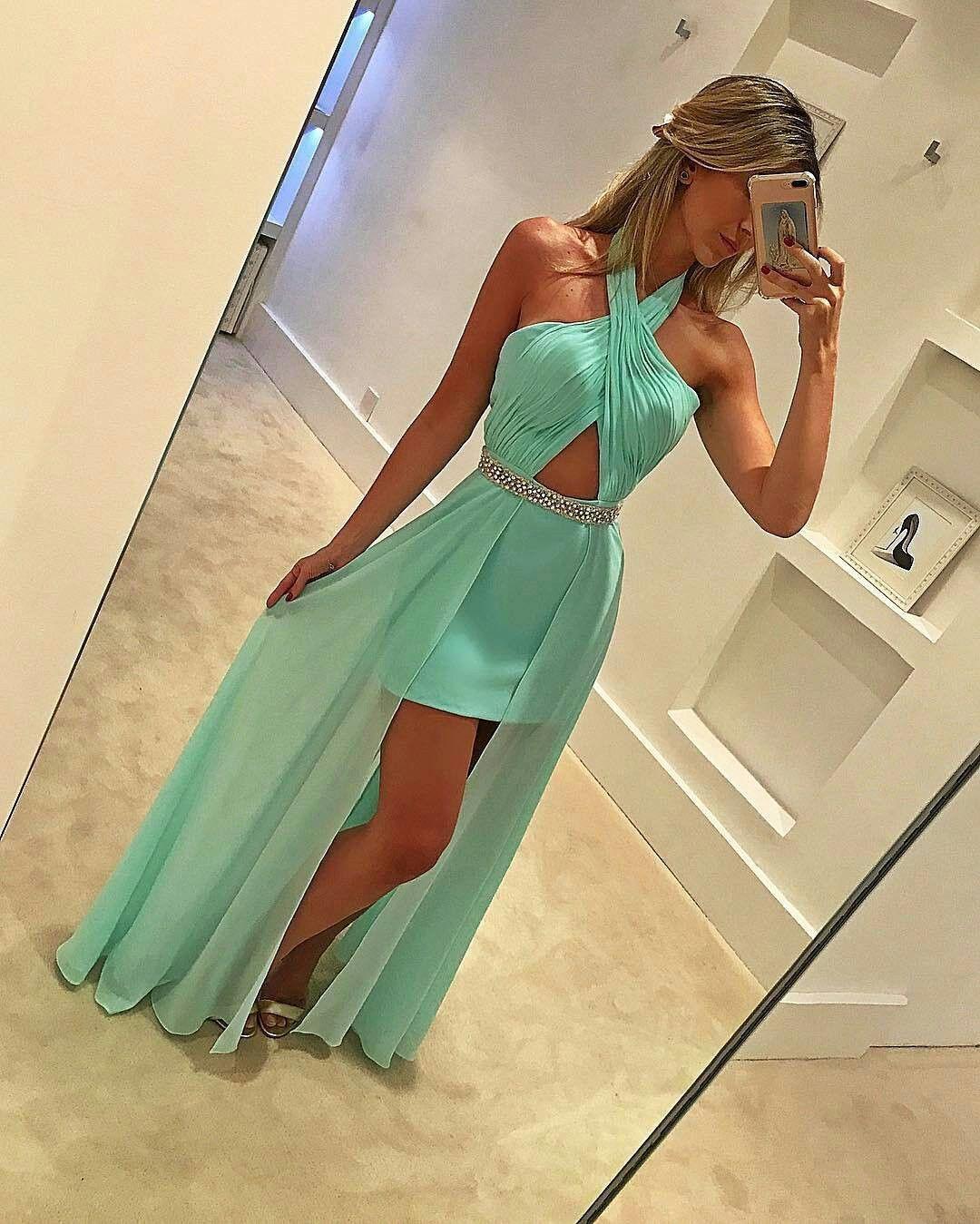 halter prom dress,high low prom dress,chiffon prom dress,sexy party dress