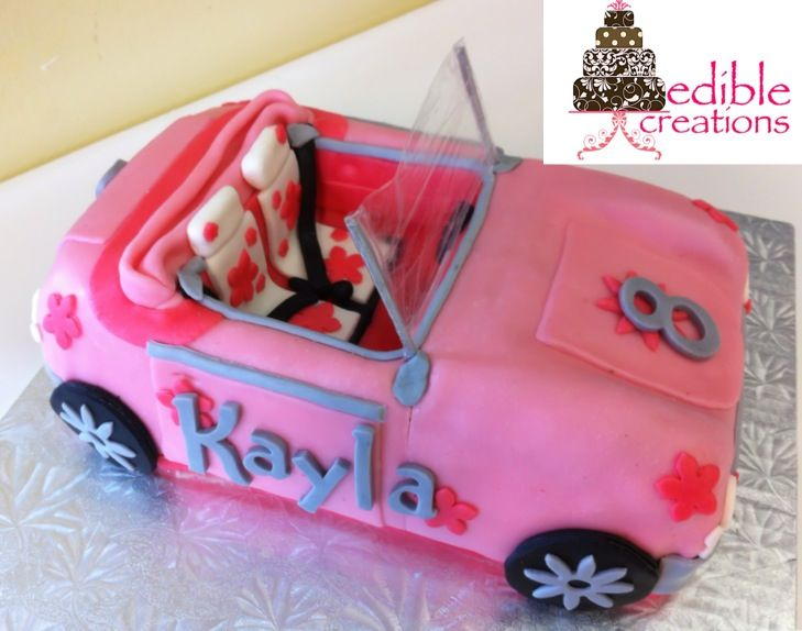 Edible Creations Pink Barbie Car Cake Check Us Out On Face Book
