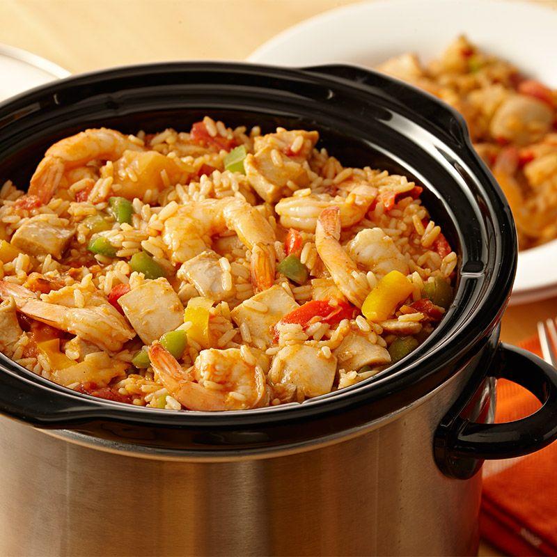 Slow Cooker Chicken Jambalaya Recipes Zatarain S Slow Cooker Jambalaya Jambalaya Recipe Chicken Jambalaya