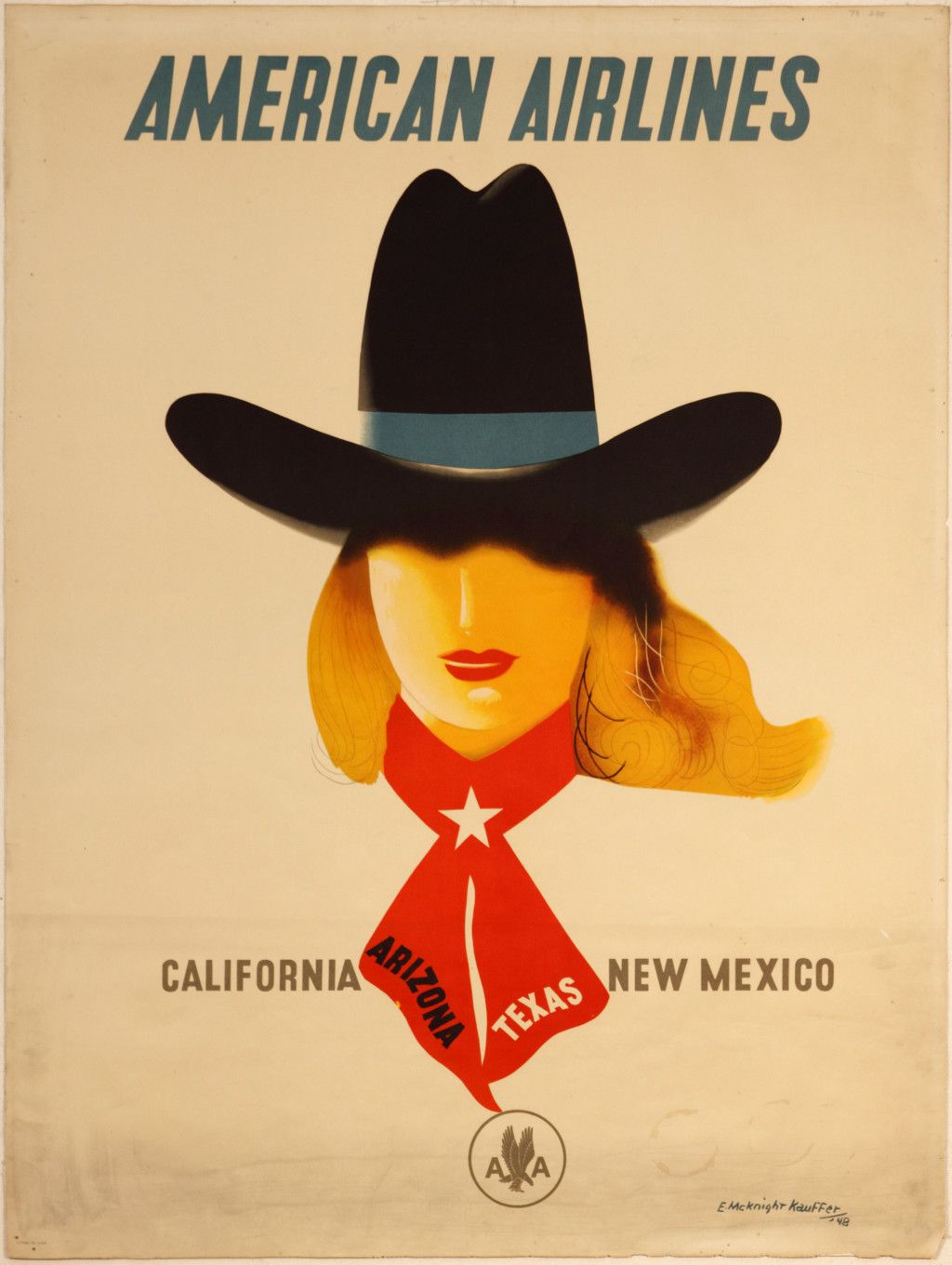 American Airlines Travel Poster, California, Arizona