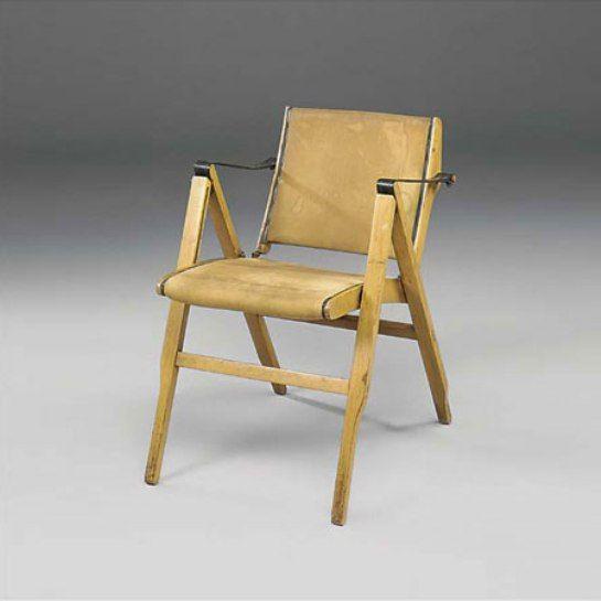 Marco Zanuso, Bridge Folding Chair for Arflex c1951.