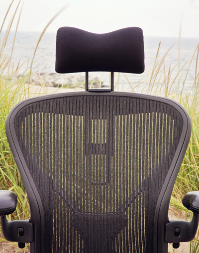 Atlas Headrest For The Herman Miller Aeron Chair A Picture Is Worth 1 000 Words Headrest Aeron Design