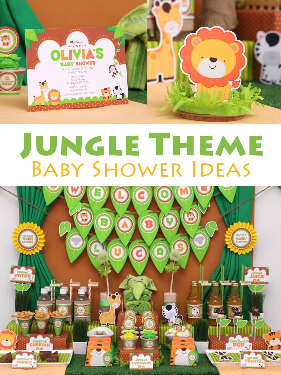 Wonderful Fun Safari Jungle Baby Shower Theme Part - 5: Jungle Theme Baby Shower Ideas - Lions And Tigers And Bears, Oh My! Get  Your Guests Into The Groove Of The Jungle Boogie In This Fun, Jungle Theme  Baby ...