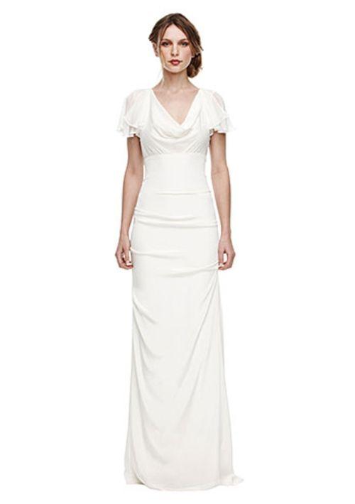 Vestido de novia con mangas de estilo antiguo - Foto Nicole Miller ...