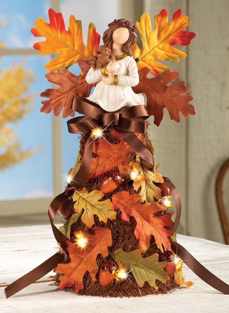 Harvest Thanksgiving Holiday Centerpiece Tabletop Decoration Angel