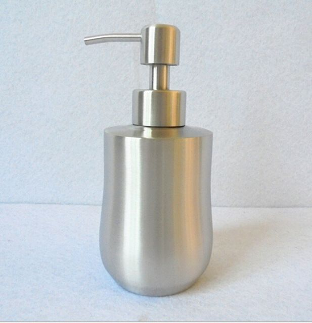 Stainless Steel Liquid Pump Soap Lotion Dispenser Hand Sanitizer - Bathroom soap and lotion dispenser set