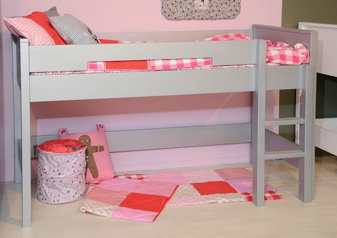 lit mezzanine mi hauteur mix match de la marque bopita. Black Bedroom Furniture Sets. Home Design Ideas