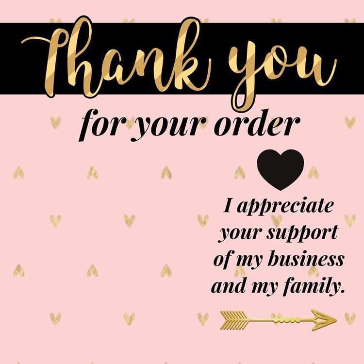 mary kay thank you for your order