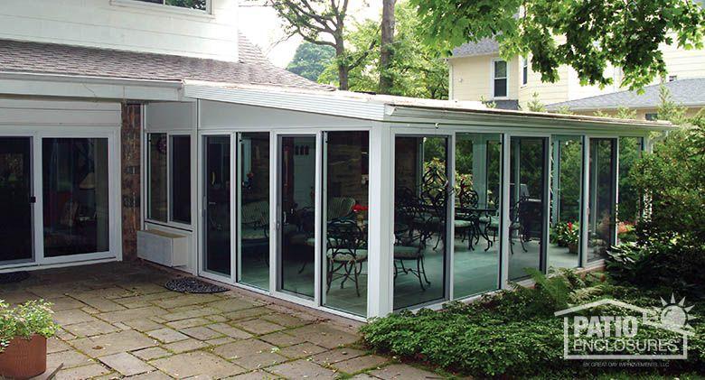 White Aluminum Frame All Season Room with SingleSlope