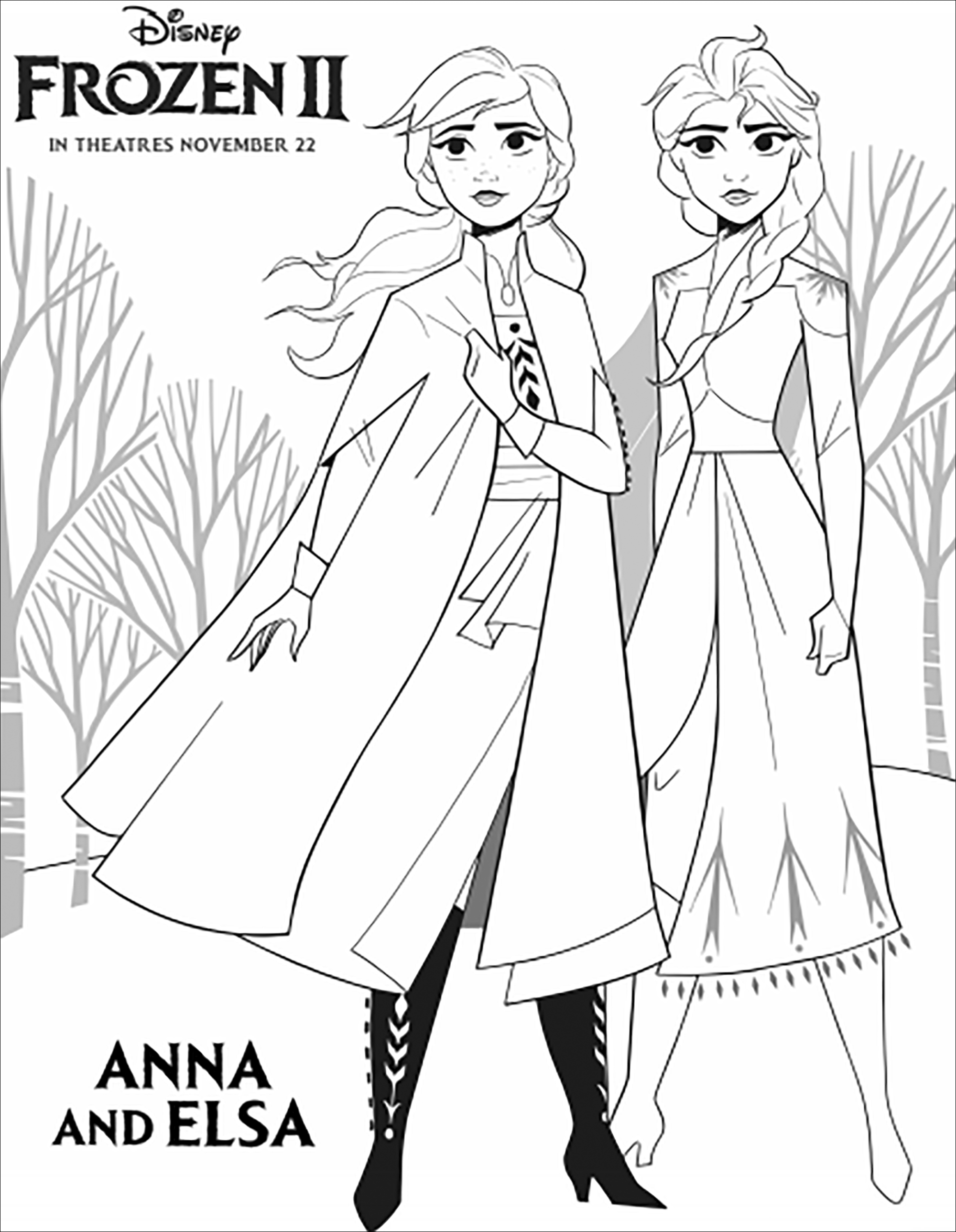 La Reine Des Neiges 2 Elsa Et Anna Avec Texte Elsa Et Anna Plus Soudees Que Jamais Dans La Rei En 2020 Coloriage Reine Des Neiges Coloriage Frozen Coloriage Elsa