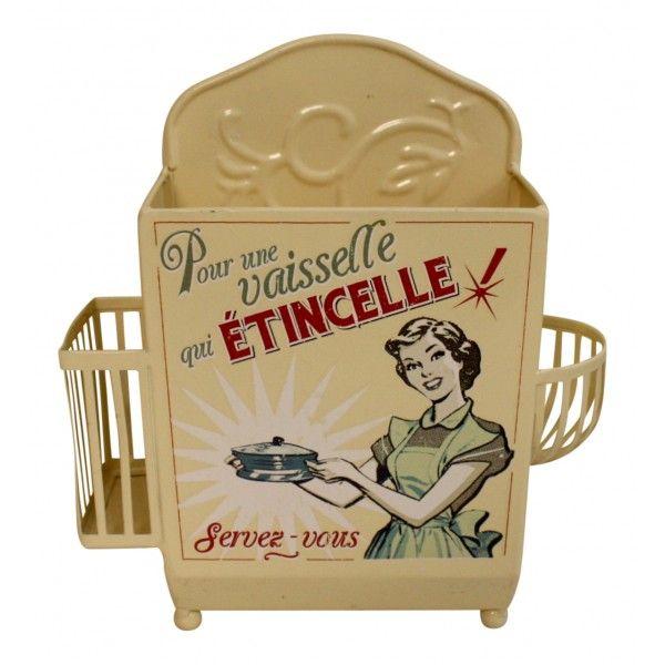 Painted metal Kitchen Sink Caddy Organizer, French vintage design ...