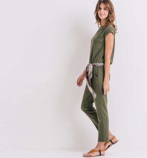 d64da092df5346 Combinaison pantalon Femme kaki - Promod | All about Clothing en ...
