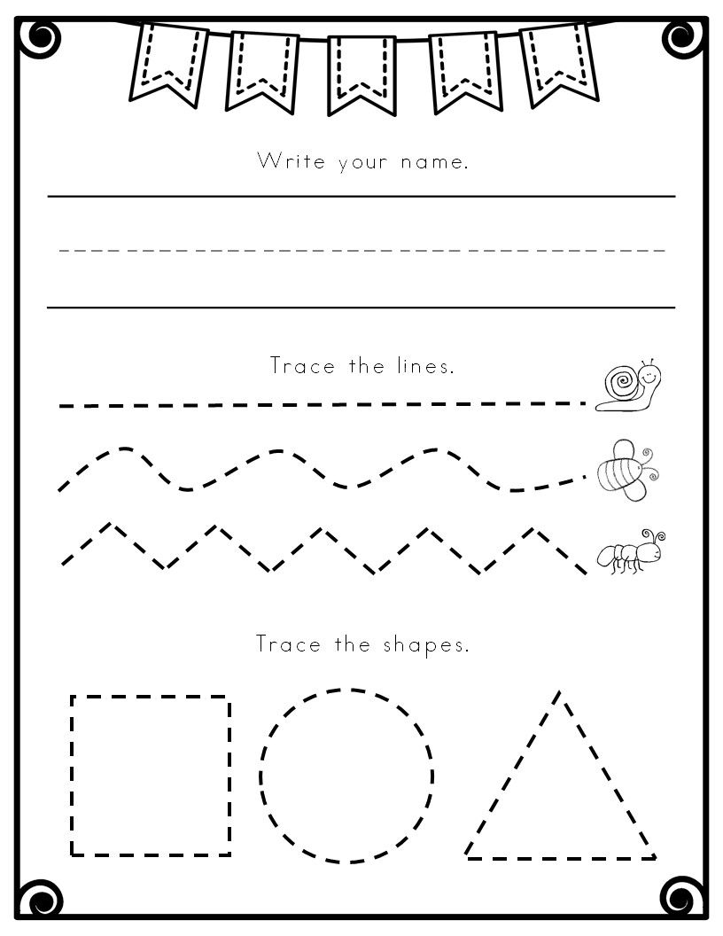 Prewriting Worksheets Fine Motor Worksheets Pre